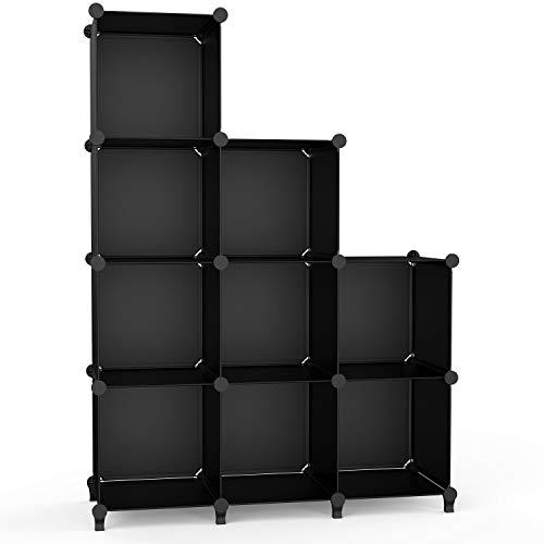 【Amazon.co.jp 限定】 チチロバ(TITIROBA) 本棚 収納棚 組み立て式 棚 ラック 大容量 整理棚収納 ボックス 衣類収納 スチール性 インテリア 簡単組立 おしゃれ 多用途 耐久性 省スペース ブラック 9ボックス ZW-03