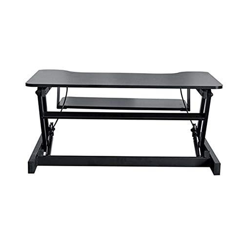 Kontorsarbetsplats stående upp skrivbord höjdställbar ståskrivbord konverterare med tangentbord för hem och kontor Ingen installation krävs (färg: svart, storlek: 803 x 520 mm )