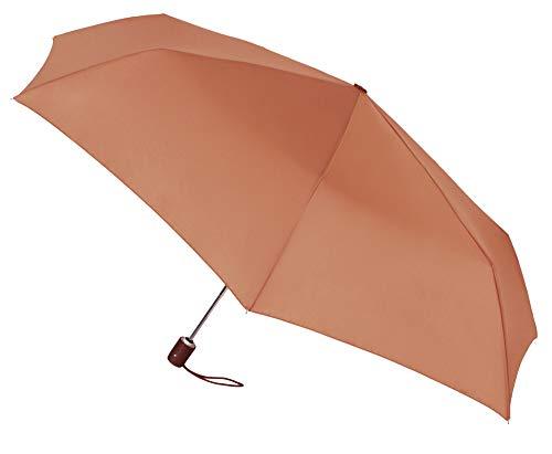 Paraguas Vogue Plegable automático con protección Solar (FPS +30). Antiviento y Acabado Teflón Que repele el Agua. (Naranja Suave)