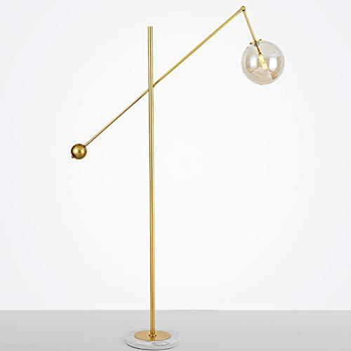 Moderne wandlamp voor de tuin, creatief, ronde bol van glas, sokkel van marmer, kleur verguld, ijzer, lange arko-arm, voor perzik, met LED-verlichting, 1,6 m