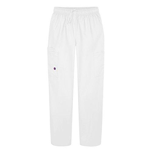 Sivvan Women's Scrubs Drawstring Cargo Trousers - S8200 - White - 2X