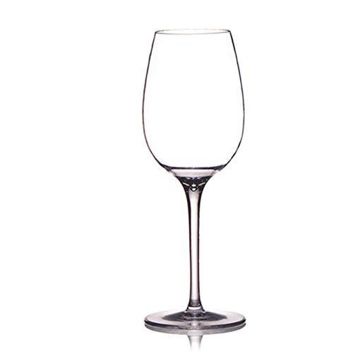 NGHSDO Copas De Vino Material Copa de Vidrio de Vino de plástico inquebrantable Material Taza de Cristal de Vino Tinto Transparente 225 * 59mm 1 (Capacity : 301 400ml, Color : 1 PCS)