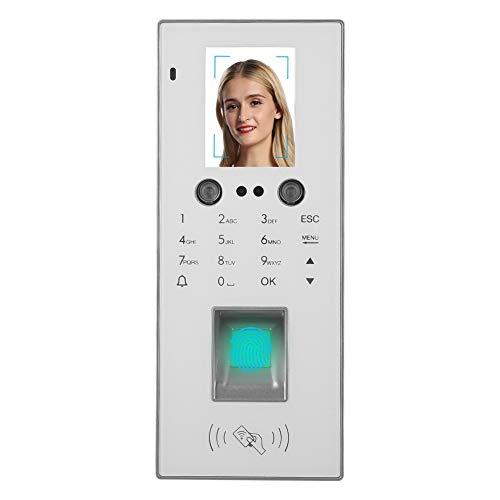 Praktisches Zeiterfassung Zutrittssystem 300 Gesichtserkennung + 1000 Fingerabdrücke/Passwort/Karte, 2,8 Zoll Farbdisplay Stempeluhr Stechuhr USB Datenexport (Sprache ist Englisch)