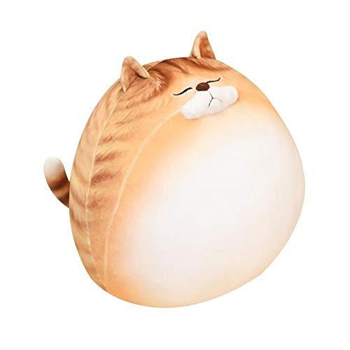 HJHJK Nette fette 3D-Katzen Plüschtiere Kuscheltier Duplex Bedruckte Katzen Puppe Weiches Kissen Sitzkissen Geschenk für Kinder Mädchen Baby (Size : 70cm)