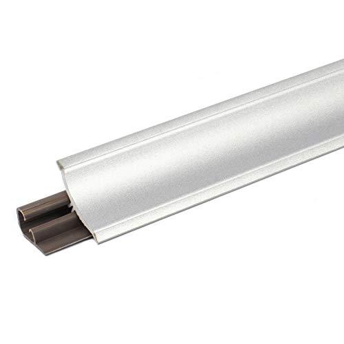 DQ-PP 2,5m WINKELLEISTE | Aluminium silber | 23 x 23mm | PVC | GRATIS Schrauben | Küchenleiste Arbeitsplatte Abschlussleiste Leiste Küche Küchenabschlussleiste Wandabschlussleiste Tischplattenleiste