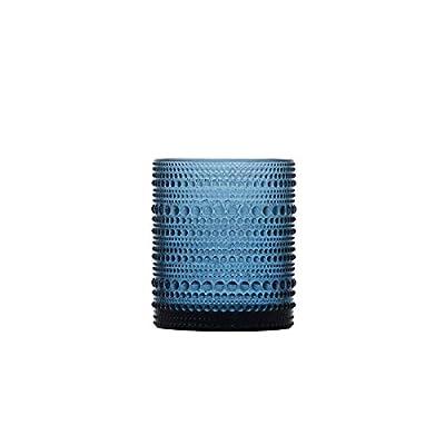 D&V By Fortessa Jupiter Double Old Fashion Glass, 10 Ounce, Set of 6 (Cornflower)