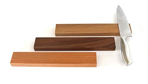 Messerleiste magnetisch Holz, Magnetleiste Holz für Küchenmesser, Holzleiste mit Magnet, selbstklebend ohne bohren, magnetische Messerleiste aus Holz in Eiche, Nussbaum & Kirschbaum