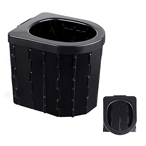 MeXo Inodoro plegable portátil para camping, viajes, senderismo, excursiones, atascos (negro)