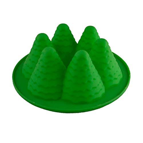 BESTONZON Stampo in silicone a forma di albero di Natale 3D per la casa (colore casuale)