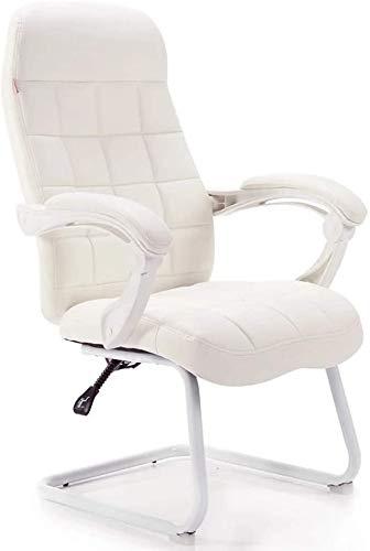 Mesas y sillas Sillón giratorio silla de oficina simple juego de vídeo patín respaldo silla telesilla pequeña oficina en casa,White