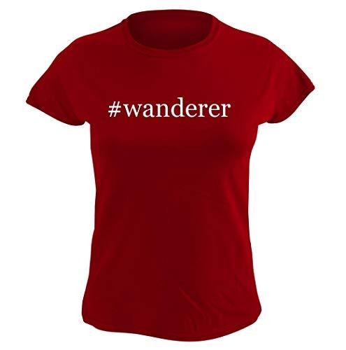 #wanderer Hashtag Graphic – playera para mujer (talla L), color rojo