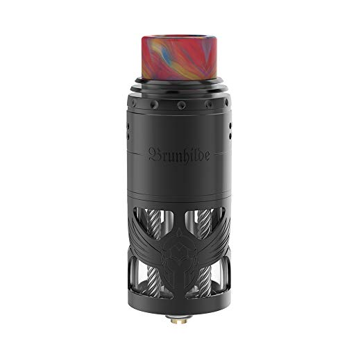 Vapefly Brunhilde RTA Exquisite 8ml RTA Schnelles Nachfüllen des Dual Coil-Gebäudes, kein Nikotin, keine E-Flüssigkeit (Schwarz)