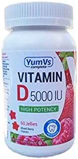 Yum V's Complete Vitamin D3 5000 Mixed Berry Flavor 60 Jellies