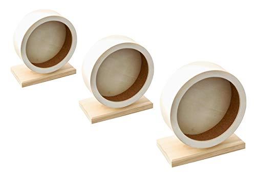 Karlie 1030973 Holz Laufrad Bogie Wheel Kork, Durchmesser 16 cm, modell sortiert