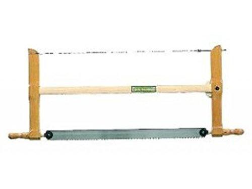 Ulmia 270-600 Säge / Spannsäge 270-600 ~ große auf Stoß stehende Sägezähne, für gröbere Schnitte, geeignet zum Zuschneiden und Querschneiden von Schnittholz ~ Sägeblattlänge: 600 mm, Zahnweite: 5,0 mm