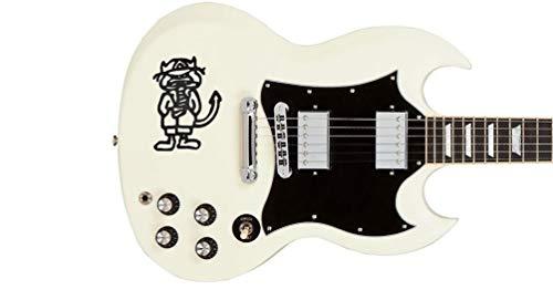 Stickers Angus Devil Guitar Electric pegatinas Guitar & Bass (negro)
