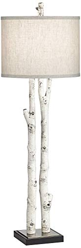 White Forest Natural Birch Tree Branch Buffet Table Lamp