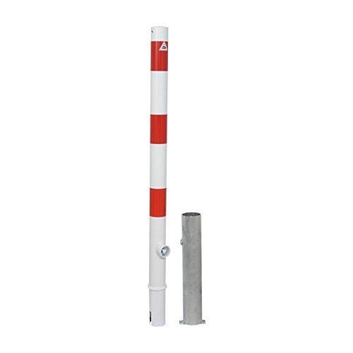 Absperrpfosten Ø 60 mm herausnehmbar mit Dreikantverschluss und Bodenhülse, ohne Öse