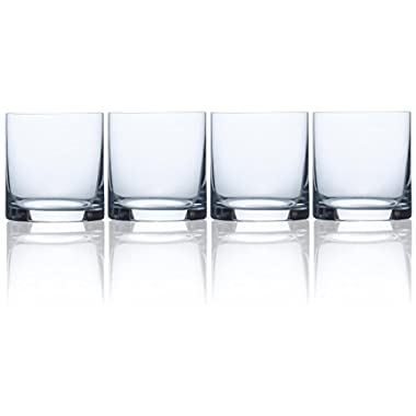 Circleware Soiree CG Society Double Old Fashioned Whiskey Drinking Glasses, Set of 4, 15 ounces, Clear