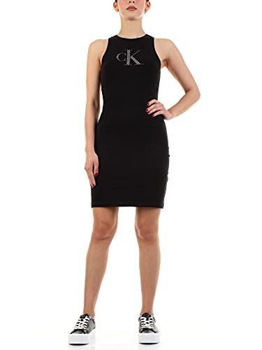 Calvin Klein Abito Logo Donna J20J215663 BEH Black, Black, S