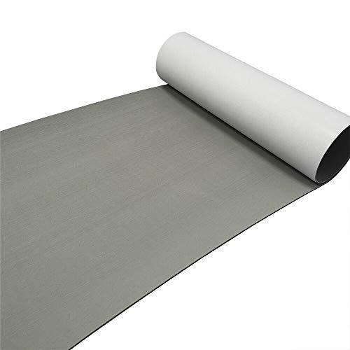Fetcoi Cubierta de espuma EVA de teca, para barcos y yates, autoadhesiva, antideslizante, 240 x 90 cm, color gris
