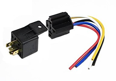 ENA Single Heavy Duty Universal Relay Compatible with 12 VOLT 30/40 Amp Automotive Relay & 5-Wire Relays Socket