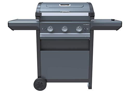 Campingaz Barbacoa Gas 3 Series Select S, BBQ de Gas, 3 quemadores de acero inoxidable, 1 hornillo lateral, tapa con termómetro, InstaClean Aqua, Culinary Modular System, 10.2kW, modelo 2021
