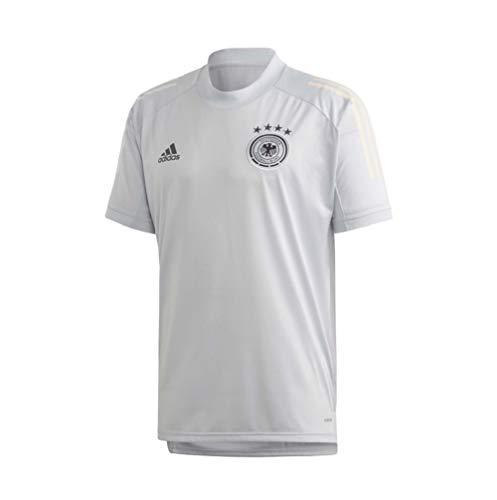 Adidas DFB - Camiseta de entrenamiento (talla S, color gris claro)