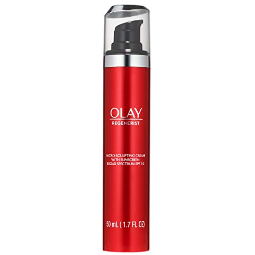 Face Moisturizer by Olay Regenerist Micro-Sculpting Cream With Sunscreen Advanced Anti-Aging 50ml Packaging may Vary