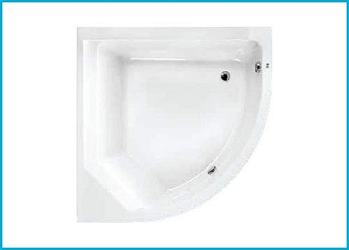 Bañera acrílica angular 100 x 150 DX blanca