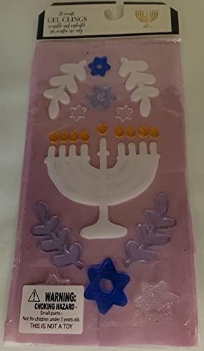 Menorah Happy Hanukkah Window Gel Clings