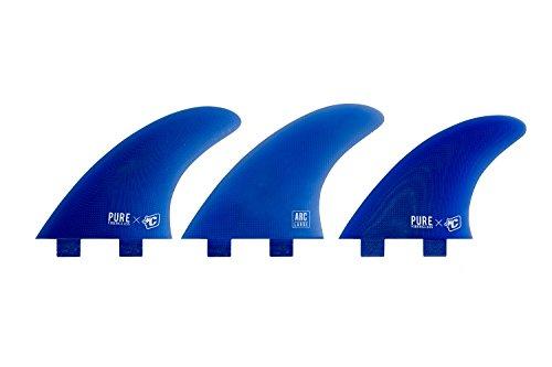 Otros: Unisex - Adultos ARC Pure Fiberglass Dual Tab Finnen, Azul, Talla única