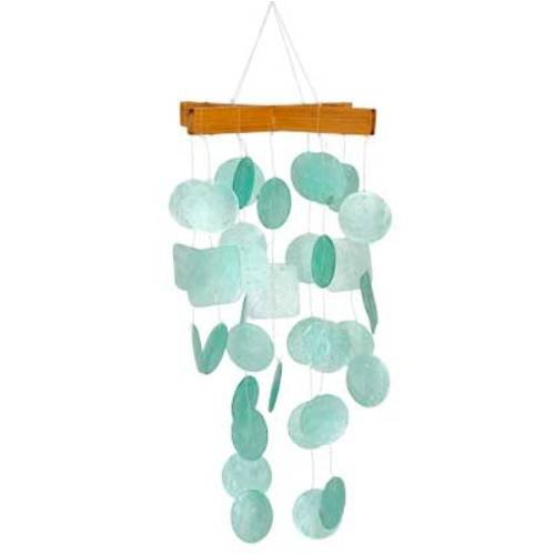 Woodstock Asli Arts Collection, Mini Capiz chime- Aqua