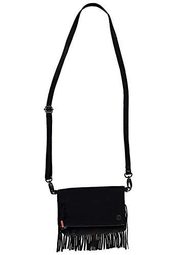 O'Neill Tasche Umhängetasche Tassel schwarz Fransen Leder Textil Zip