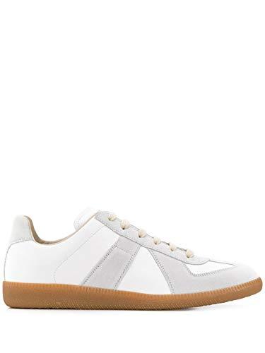 Maison Margiela Luxury Fashion Herren S57WS0236P1895101 Weiss Leder Sneakers   Jahreszeit Permanent