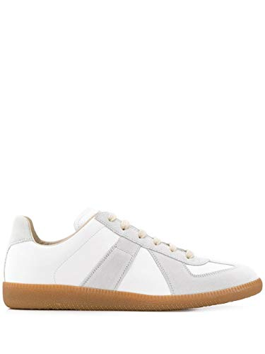 Maison Margiela Luxury Fashion Uomo S57WS0236P1895101 Bianco Pelle Sneakers | Stagione Permanente