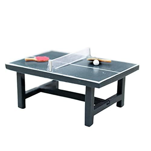 TOYANDONA Dollhouse Tennis De Table en Bois Pingpong Set Mini Bois Mobilier Sportif Miniature Modèle pour Dollhouse Fée Jardin Décoration