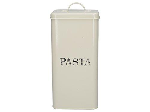 Creative Tops Stir It Up Pastabehälter aus Metall imVintage-Stil, 14 x 28 cm (5,5 x 11 Zoll) – Grauweiß