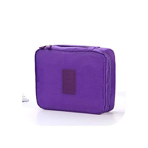 ZWWZ Cosmetic Bag Travel Make Up Hüllen Frauen Multifunktions-Make-up Taschen Spielraum-kosmetischer Beutel Frauen Körperpflege Organizer Wasserdicht-Rose HAIKE (Color : Purple, Size : Size)