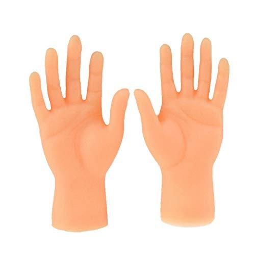 hong Wu Fingerpuppen Mini-Finger-hände Kleine Hände Mit Der Linken Hand Und Der Rechten Hand Für Game Party 2 Stück