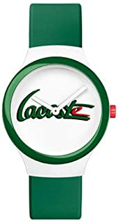 Lacoste Men's White & Green Dial Rubber Band Watch - 2020132