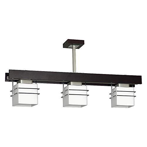 Deckenleuchte in Venge Weiß Bauhausstil 3x E27 bis zu 60 Watt 230V aus Glas & Metall Küche Esszimmer Lampen Leuchte innen Beleuchtung