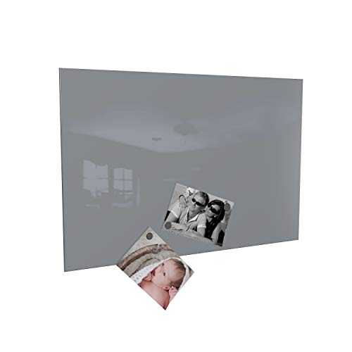 Colours-Manufaktur Magnettafel inkl. Magnete - in 4 Verschiedene Größen und 18 (grau, 60 x 90 cm)