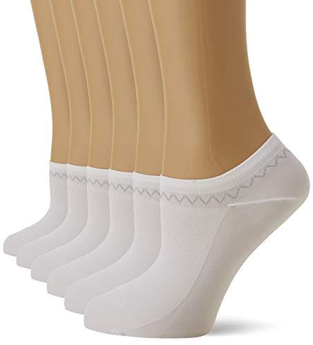 Nur Die Damen Feines Schuhsöckchen Füßlinge, Weiß (Weiss 30), 39-42, 6er Pack