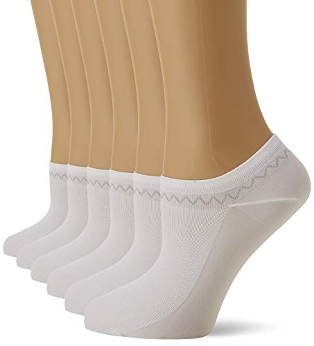 Nur Die Damen 6Er Feines Schuhsöckchen Füßlinge, Weiß (WEISS 30), 39/42 (Herstellergröße:39-42) Pack