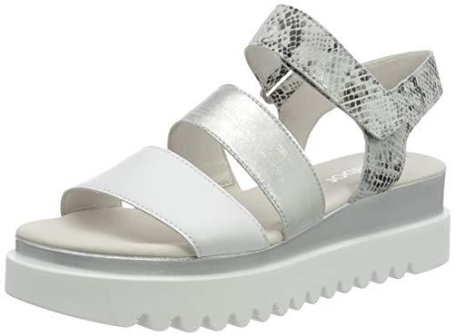 Gabor Shoes Damen Casual-44.610 Riemchensandalen, Weiß (Weiss/Argento 21), 40 EU