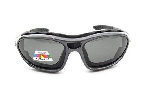Alpland Polariserende fietsbril – gladscherbril – skibril – triatlon inclusief softbag SF 3 polariserende glazen.