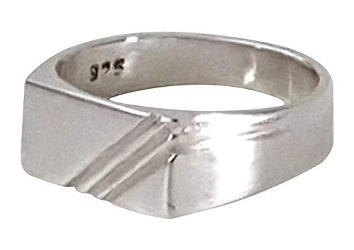 Genuine 925 Sterling Silver Mens/Boys Rectangular Signet Ring All sizes (S)