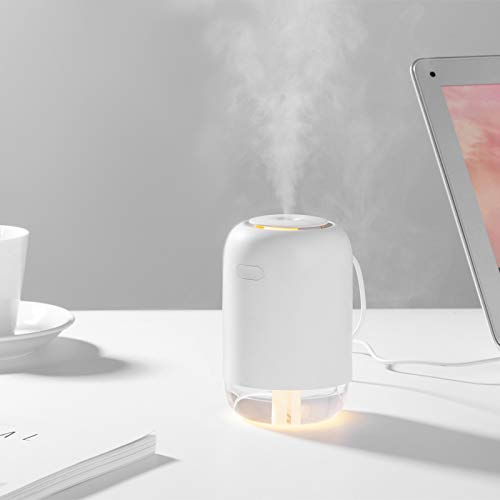 Mini Humidifier for Bedroom, Office, Car; Portable Cool Mist Humidifier; Super Quite USB Desktop with Night Light for Baby, Bedroom.