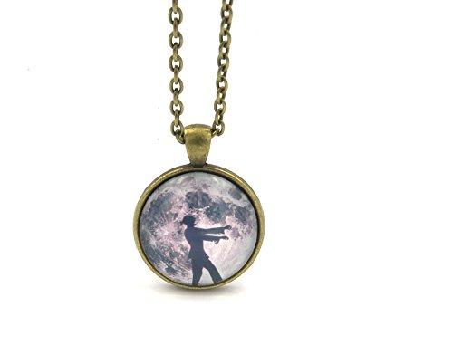 schmuck-stadt Zombie im Mondschein Cabochon Kette 25mm Bronze-Farben
